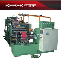 New tire building machine for tire retreading