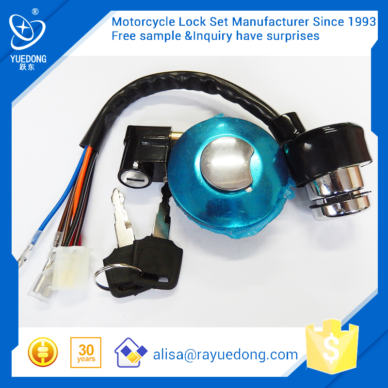 Direct Factory AX100 motorcycle lock set,ignition switch,fuel tank cap for Suzuki with high quality