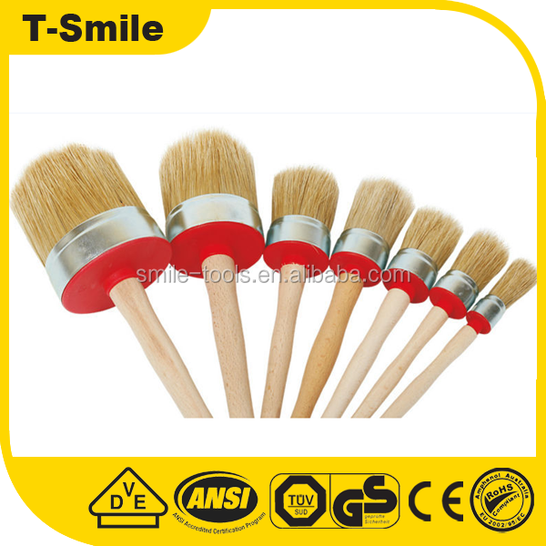 Good quality Paint brush with wooden /long handle elbow brush/painting brush