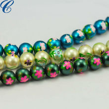 Hand Painted Beads Japan Glass Beads