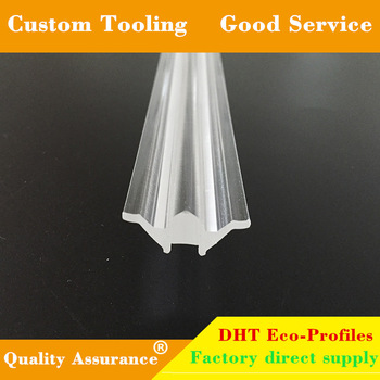 Led linear light clear acrylic/pmma/pc lens plastic cover