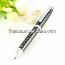 Top Quality Gift Scribed Line Engraving Twist Metal Ballpoint Pen With Silver Clip