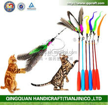 China factory produce Pet Fit For Life Multi Feather Teaser and Exerciser For Cat and Kitten - Cat Toy Interactive Cat Wand