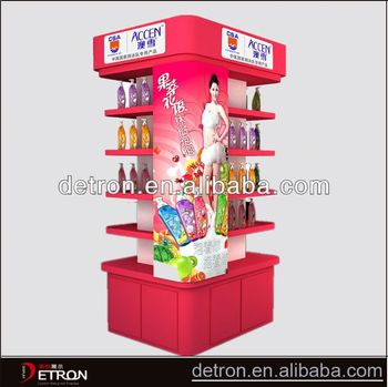 Fashion Popular supermarket stand wood display shelf