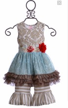 CONICE NINI brand hot selling China yiwu lace ruffle dress top children boutique clothing