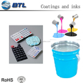 Silicone printing ink used as protection and decoration on the surface of silicone rubber