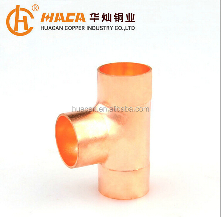 Pipe Reducing Tee/copper fitting/refrigeration fitting