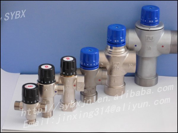 "Alibaba China Supplier Brass 1"" DN25 Solar Energy Thermostatic Mixing Valve"