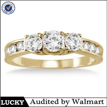Gold plated brass wedding 30 year anniversary ring