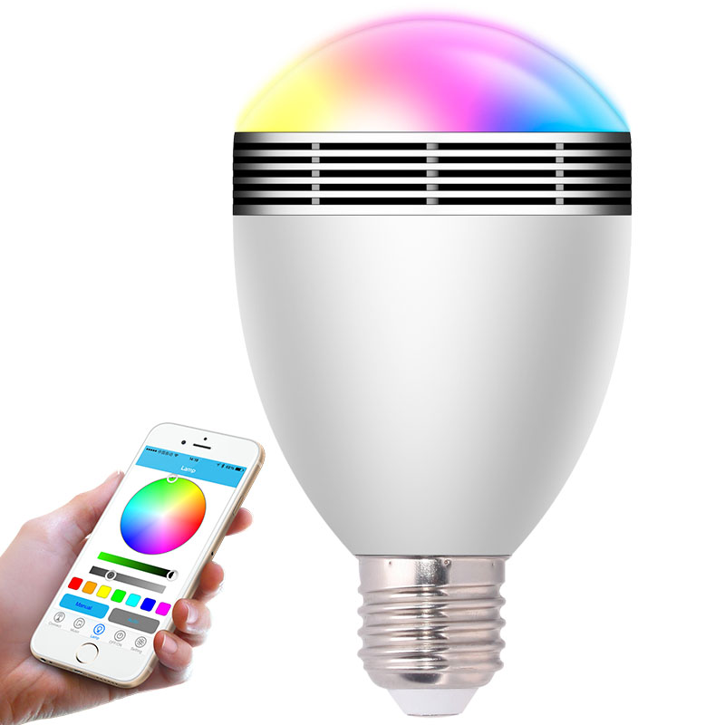 BL06A E27/B22 LED Bulb Speaker <strong>Lights</strong> with APP Control and Bluetooth music playing