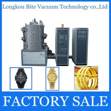 18K 24K imitation jewelry PVD real gold plating machine/watch gold color plating equipment/vacuum coating machine