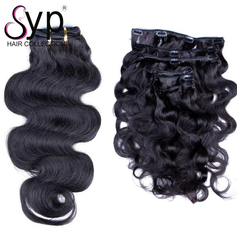 Afro Clip In Thick Human Hair Extensionsraw Indian Curly Black Hair