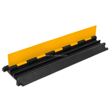 black and yellow speed bump 2 channel cable protector 980*240*50mm speed hump