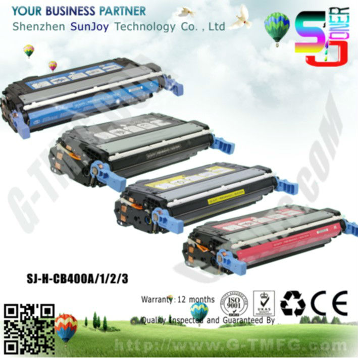 Sunjoy 642A Recycled color Toner Cartridge CB400A for HP Laserjet CP4000 CP4005dn CP4005n Printer