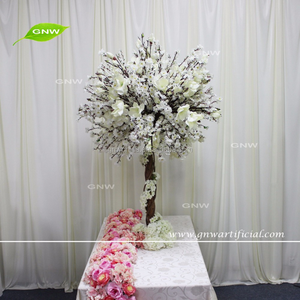 GNW CTR1605008-D wholesale tall centerpiece stands artificial cherry blossom wedding tree