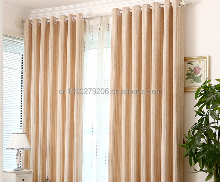 Luxury optimal thermal insulated plain style polyester blackout curtains and drapes