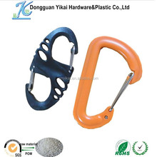 China product plastic double carabiner, plastic snap hook,plastic carabiner hook