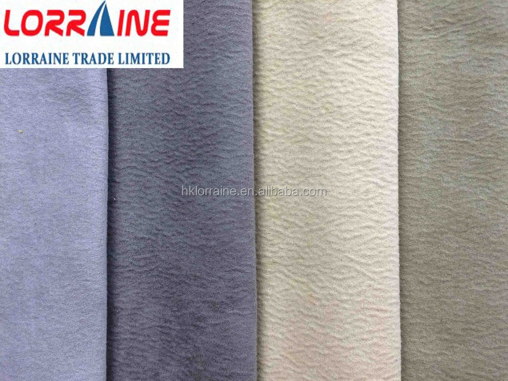 non-woven faux suede fabric /microfiber suede for sofa fabric