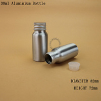 30ml Empty Metal Bottle Liquid Container Cosmetic Small Aluminum Bottles