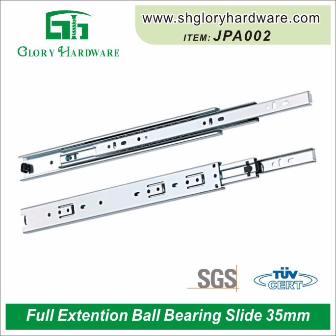 Furniture sliders undermount soft close heavy duty telescopic drawer slide