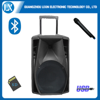 hi-fi multimedia Battery Powered Rechargeable Loud Portable trolley pa Speaker