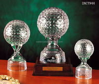 Top quality new design best selling sports crystal golf ball award
