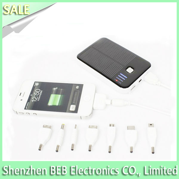 5000mah two USB portable solar powered chargers for iPhone5