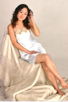 picture of women in nightgowns-- habutai silk long nightgown wholesale