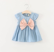 New Arrival Barbie Women Clothing Pretty Flutter Dresses Girls Wear Front Bow Decoration Baby Girl Dress