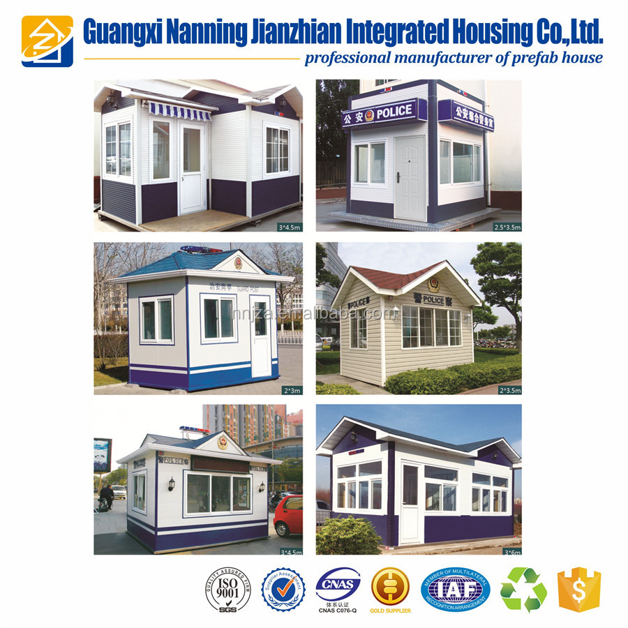 Steel structure prefab security container house moveable toll booth sentry house for sale