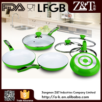 Homeware color painting frying pan with ceramic coating