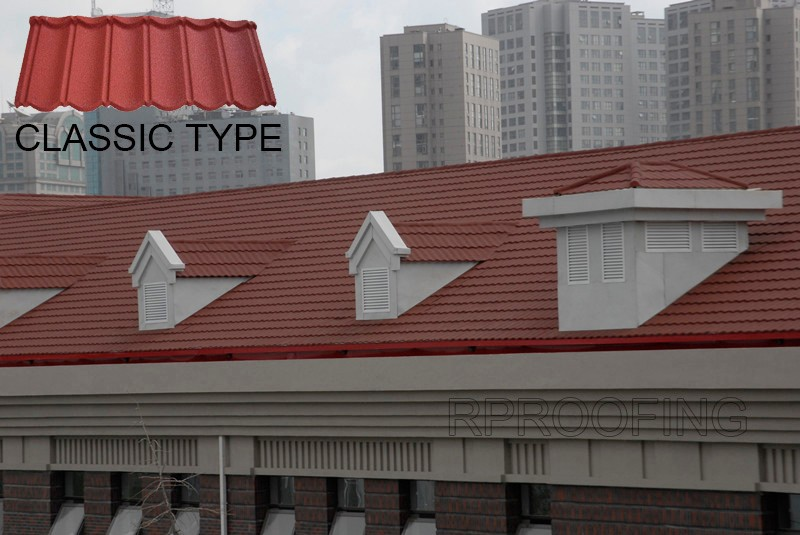 [Factory direct roofing shingle] classic roof tile,metal roof tile made in China