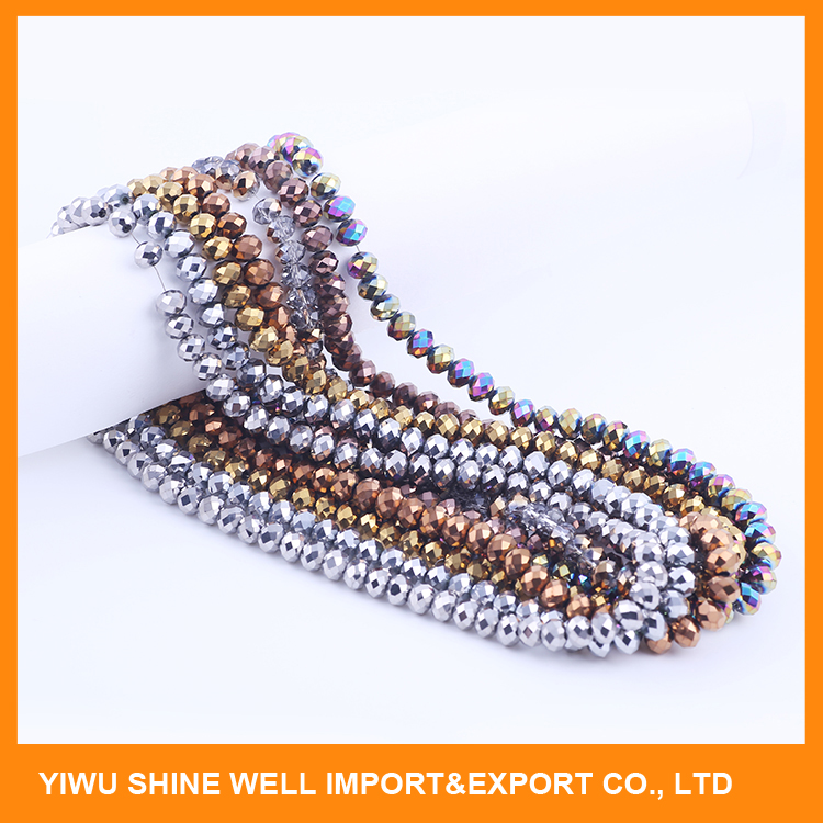 Hot Selling custom design hollow plastic beads for necklace accessory