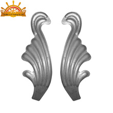 different style ornamental wrought iron stamping metal flowers and leaves