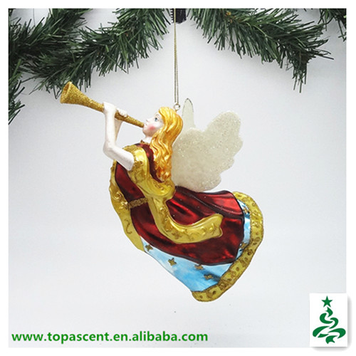 2014 traditional christmas hand blown glass angel ornament from direct factory