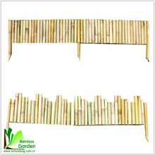 natural garden edging fence bamboo for sales