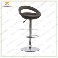 WorkWell cheap design rattan metal high swivel bar lounge stools (Kw-B2004b)