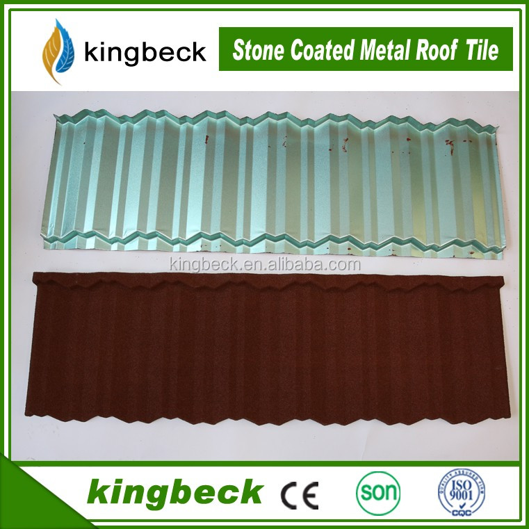 Length 1340mm Kingbeck Brand Stone Coated Metal Building <strong>Material</strong> for Roof