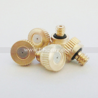 Low pressure brass fog mist cooling nozzle for spray fan