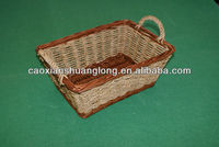 2014 small hot sale new storage natural gift wicker basket empty with handle