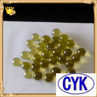 China best selling yellow 20 mm Glass Marbles