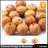 16mm Natural Walnuts Wood Bead DIY Wooden Beads Jewelry Making Loose Beads