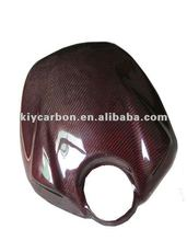 Carbon red kevlar parts tank cover