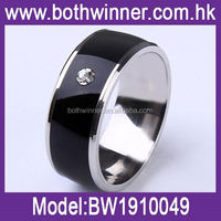 Women stainless steel ring jewelry ,H0T111 engraved smart silver men's fitted rings for sale
