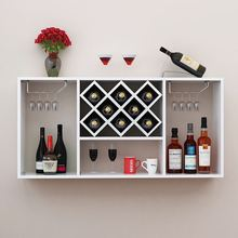 Manufacturer elegant wine wall rack decorative wooden wall hanging wine cabinets
