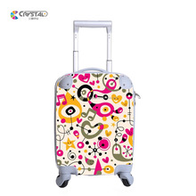 Travel kids trolley hard case luggage, promotional trendy children trolley bag