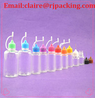 High quality needle bottle/plastic needle tip pe dropper bottle with nozzle tip for refilling