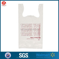 Thank you plastic type biodegrabale Recyclable Feature large size t-shirt bag