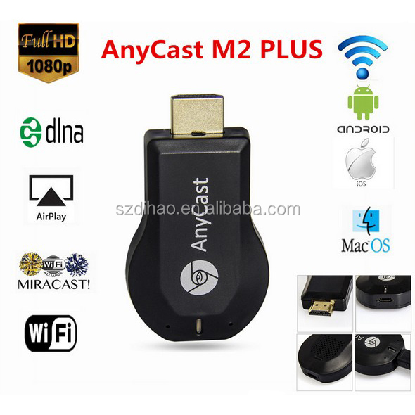 DIHAO High quality anycast ezcast m2 plus one setting miracast dongle / anycast rockchip 2928 dongle