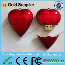 small capacity 12gb usb mini usb flash drives heart shape 12gb usb flash drive for christmas gift